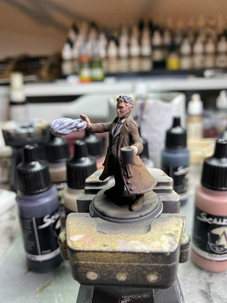 How to paint flesh on a 3d printed miniature - side view
