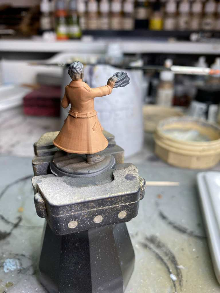 How to basecoat a 3d printed miniature