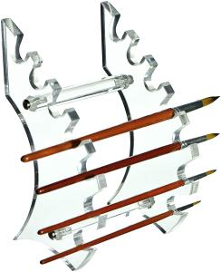 10 Fun Paint Brush Holders for Hobby Painters - samurai style brush holder stand - proper paint brush storage