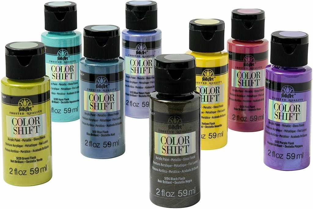 Color shift craft paint reviewed - best metallic paints for miniatures and models - Recommended metallics for painting minis