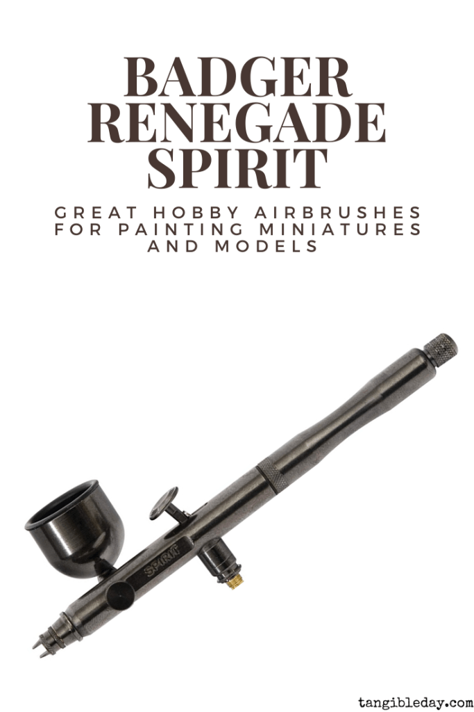 Recommended top 10 best airbrushes for painting miniatures and models - hobby and starter airbrushing - Badger renegade spirit side feed