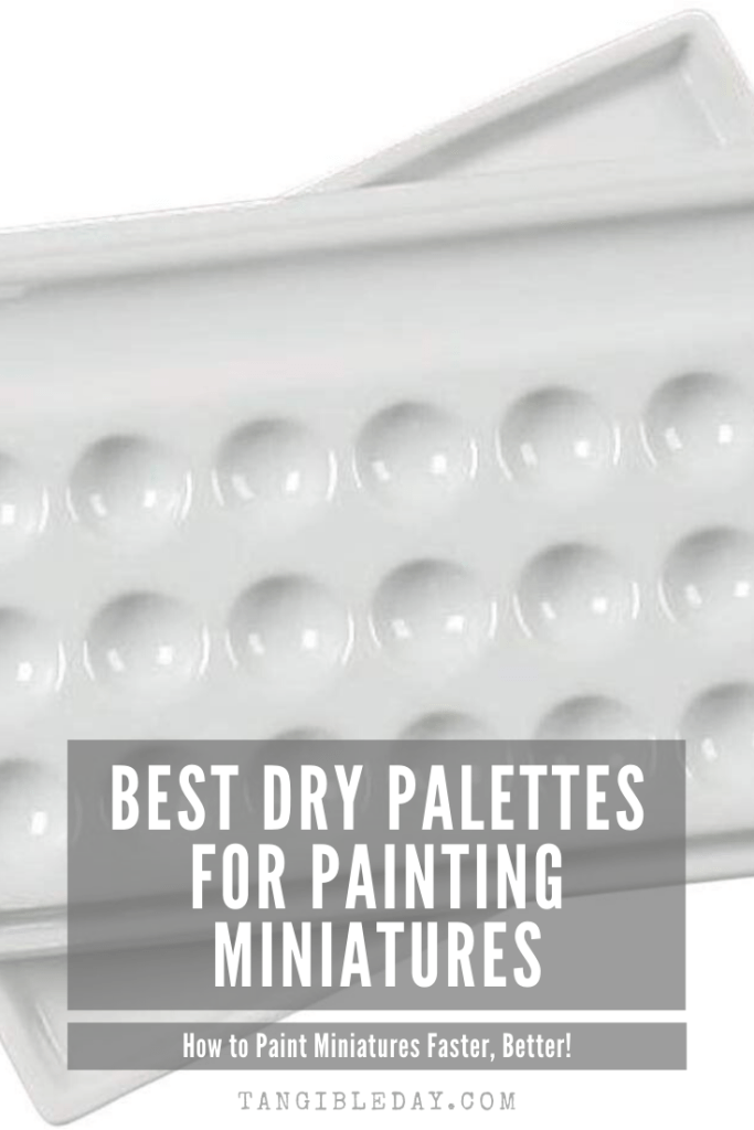 Dry Palettes for Painting Miniatures: Better Than Wet? - glaze ceramic palette for painting miniatures  - best dry palettes for models and hobby paints