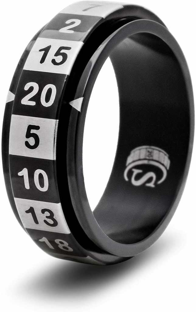7 Cool Tabletop Gaming Products Showcased at Pax Unplugged - Unique RPG gaming swag and accessories - CritSuccess Dice Rings D20 ring