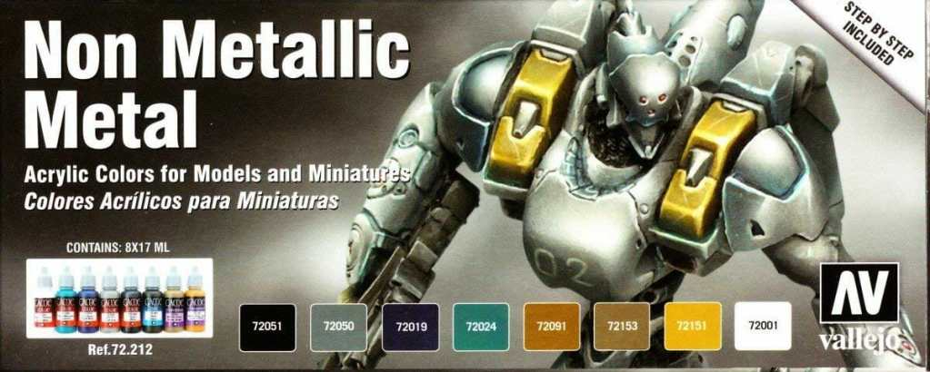 Vallejo NMM acrylic paint set for starting out painting miniatures and models.