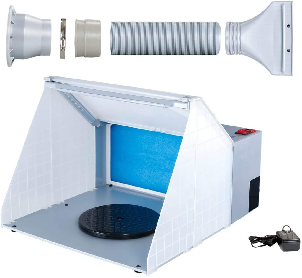 Top 10 best spray booths for airbrushing miniatures and models - Best spray booth for airbrush use and spraying scale models - airbrush spray booth recommendation with tips - Master Airbrush Lighted Portable Hobby Spray Booth review