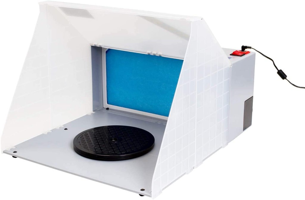 Top 10 best spray booths for airbrushing miniatures and models - Best spray booth for airbrush use and spraying scale models - airbrush spray booth recommendation with tips - Master Airbrush Portable Hobby Airbrush Spray Booth review