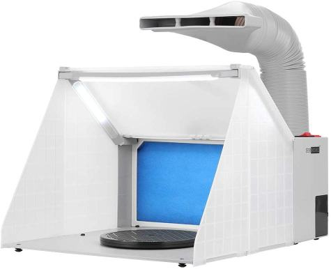Top 10 best spray booths for airbrushing miniatures and models - Best spray booth for airbrush use and spraying scale models - airbrush spray booth recommendation with tips - VIVOHOME Portable Paint Spray Booth Kit LED Lights review