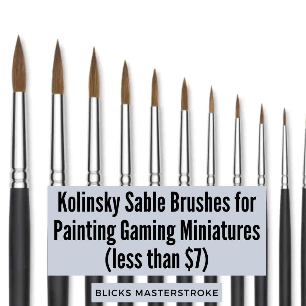 Artis opus brush review - best brushes for painting miniatures - miniature and model painting kolinsky able brushes - alternative for series 7 review
