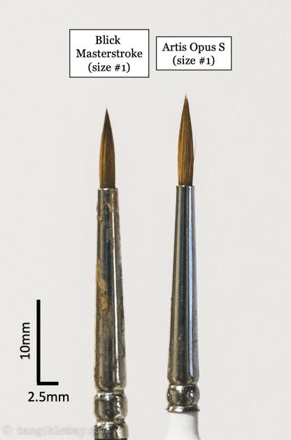 Best Alternative to Winsor & Newton Series 7 Brushes for Painting Miniatures - cheap sable kolinsky sable brushes for painting miniatures - good budget brushes for painting miniatures - blick masterstroke vs artis opus size 1