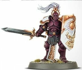 Stormcast Eternal Paint Schemes - 9 Color Motifs - how to paint stormcast eternals - color schemes for stormcast eternals, liberators, celestants, and other Age of Sigmar models from the Stormcast Eternal range - 9 color schemes for Stormcast Eternal models and miniatures from Citadel Games Workshop - dark wine red liberator with white shield