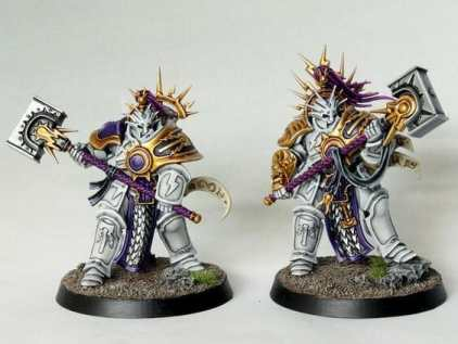 Stormcast Eternal Paint Schemes - 9 Color Motifs - how to paint stormcast eternals - color schemes for stormcast eternals, liberators, celestants, and other Age of Sigmar models from the Stormcast Eternal range - 9 color schemes for Stormcast Eternal models and miniatures from Citadel Games Workshop - white warmor with neutral dark shades