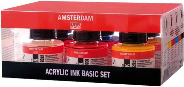 Best 15 inks for painting miniatures and models - citadel wash set - best inks for miniature painting - best inks for models - how to use inks on miniatures - inks for painting miniatures - Amsterdam acrylic ink basic set review for miniature painting