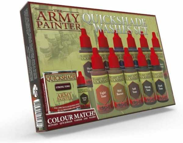 Best 15 inks for painting miniatures and models - citadel wash set - best inks for miniature painting - best inks for models - how to use inks on miniatures - inks for painting miniatures - Army Painter Quickshade wash review