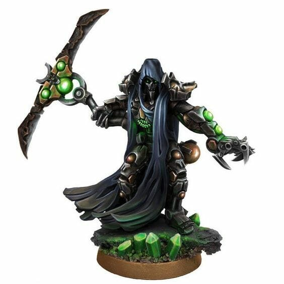Necron Paint Schemes - 9 Color Motifs - how to paint Necrons - color schemes for Necrons, Necron Warriors, Sautekh or Zathanor Dynasty, and Necron dynasties - Indomitus Warhammer 40k Necron range color palette - 9 color schemes for Necron models and miniatures from Citadel Games Workshop - cool black necron