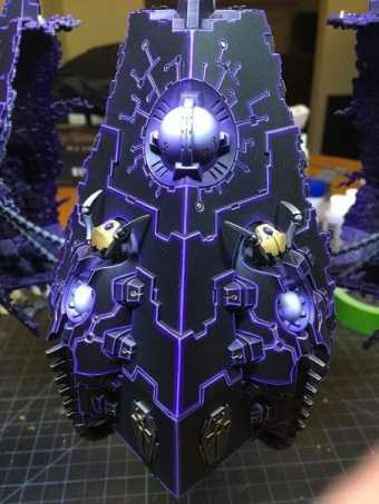 Necron Paint Schemes - 9 Color Motifs - how to paint Necrons - color schemes for Necrons, Necron Warriors, Sautekh or Zathanor Dynasty, and Necron dynasties - Indomitus Warhammer 40k Necron range color palette - 9 color schemes for Necron models and miniatures from Citadel Games Workshop - purple and violet glow