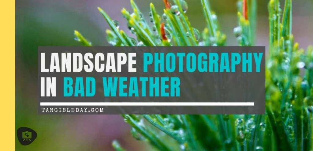 Bad weather photography ideas - landscape photography in bad weather -landscape photos in the rainy weather - landscape photography in the rain - rain photography ideas - overcast landscape photography - how to take better photos in bad weather - banner image