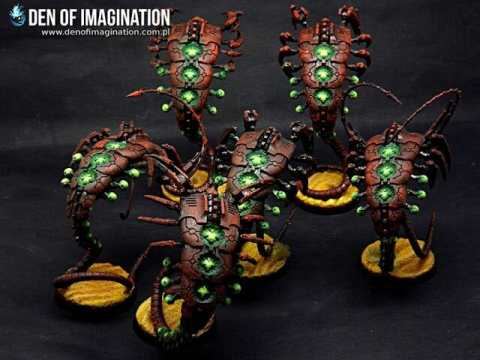 Necron Paint Schemes - 9 Color Motifs - how to paint Necrons - color schemes for Necrons, Necron Warriors, Sautekh or Zathanor Dynasty, and Necron dynasties - Indomitus Warhammer 40k Necron range color palette - 9 color schemes for Necron models and miniatures from Citadel Games Workshop - green glow