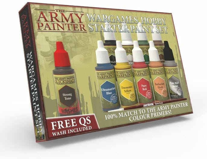 Top 10 best miniature paint set – best miniature paint sets review –  best model paints for beginner painters – best paints for painting miniatures and models – Where to begin painting tabletop wargaming miniatures – miniature painting kits and supplies - The Army Painter Wargames Hobby Starter Paint Set review