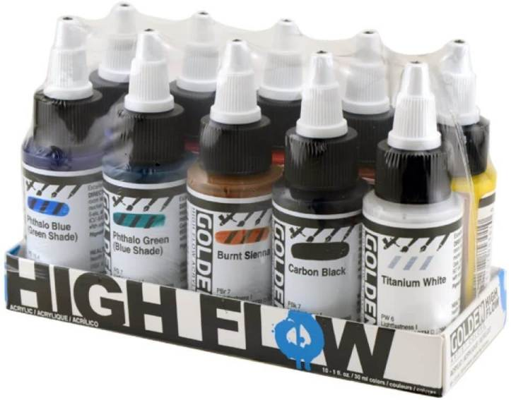 Best airbrush paint for miniatures and models – airbrush paints for models – miniature airbrush paint – review airbrush paint sets for models – citadel airbrush paint – painting multiple models with an airbrush quickly - Golden high flow acrylic airbrushable paint