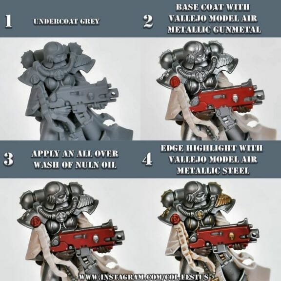 How to paint necrons simple easy fast - tutorial for painting necrons - necron paint schemes - necron color scheme - green dark grimdark color scheme - how do you all paint necrons how do you paint new necrons are necrons easy to paint - painting steel elements