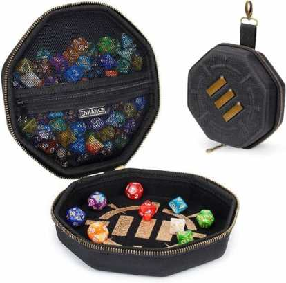 13 Best Dice Trays for Tabletop Games (Review) – best dice trays for wargaming – Warhammer dice tray and storage – best dice tray for Warhammer 40k and miniature games – boardgame dice tray – best dice trays – dice trays for dungeons and dragons, D&D, and roleplaying games (RPG) – ENHANCE Tabletop Gaming Dice Case and Dice Rolling Tray