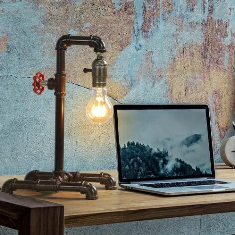 15 Cool Office Lamps for Any Workspace – cool desk lamps – cool lamps – office lamp ideas – unique desk lamps – best lamps for office work – unique office lamp - steampunk lamp