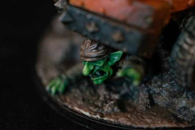"Oil Painting ""Barnascus"" (Judgement Miniatures) - How to Paint Tips - Why paint miniatures with oil paint – Barnascus Judgement Miniature – Miniature painting with oil colors – tips for painting miniatures with oil paint – oil painting miniature tutorial – metallic oil paints - goblin face"