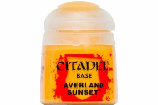 Best 26 Citadel Paints for Your Model Paint Collection – most useful model paints – best acrylic paints for new painters – best citadel paint set – best citadel paint – versatile model paint – games workshop paint sets - Averland Sunset