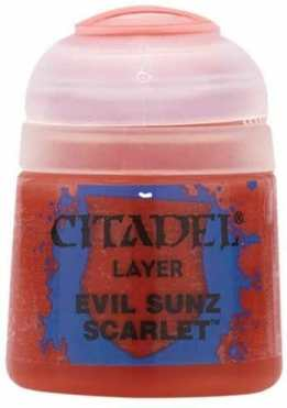 Best 26 Citadel Paints for Your Model Paint Collection – most useful model paints – best acrylic paints for new painters – best citadel paint set – best citadel paint – versatile model paint – games workshop paint sets - Evil Sunz Scarlet