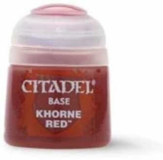 Best 26 Citadel Paints for Your Model Paint Collection – most useful model paints – best acrylic paints for new painters – best citadel paint set – best citadel paint – versatile model paint – games workshop paint sets - Khorne Red