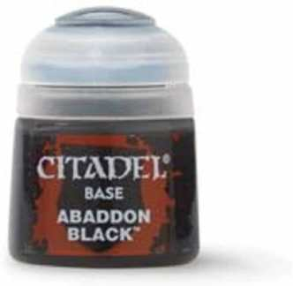 Best 26 Citadel Paints for Your Model Paint Collection – most useful model paints – best acrylic paints for new painters – best citadel paint set – best citadel paint – versatile model paint – games workshop paint sets - Abaddon Black