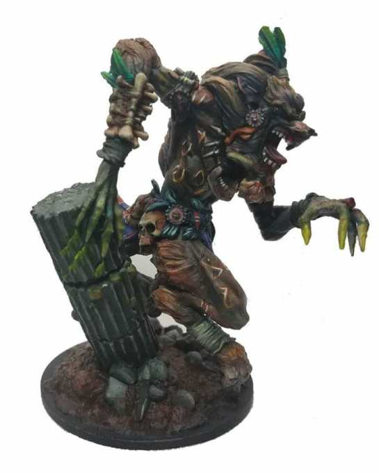How to paint miniatures with oil paints - painting ashtooth with oil paints - oil painting a 54mm scale model - painting miniatures and models with oil colors - Judgement Miniatures - painting resin miniature with oil paint -studio paintjob