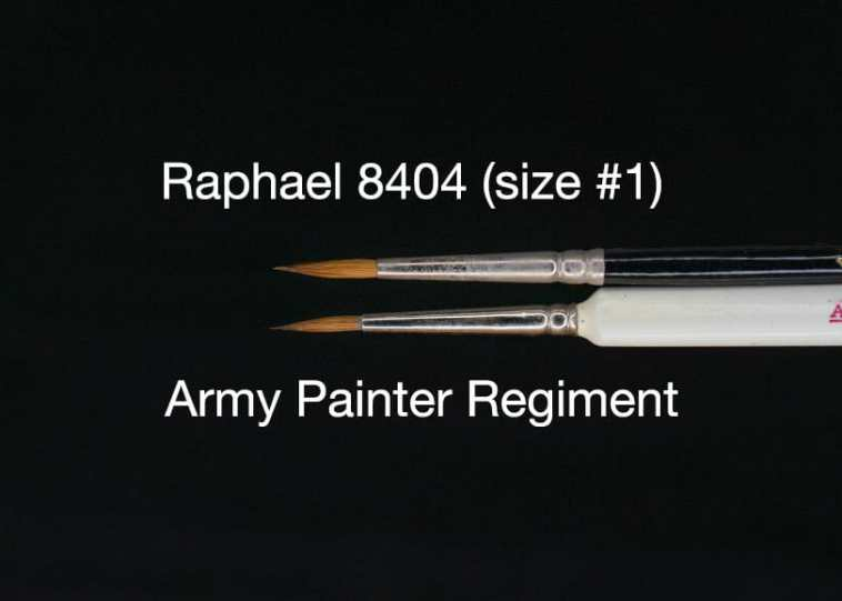 "The Army Painter Wargamer ""Regiment"" Brush Review for Miniatures - Brush Review of the Army Painter Wargamer Regiment for Painting Miniatures and Models - Regiment Brush Review for miniature painting - Best Army Painter brush for miniatures and models - Regiment brush for painting warhammer 40k and other tabletop wargaming miniatures - Raphael 8404 vs Regiment"
