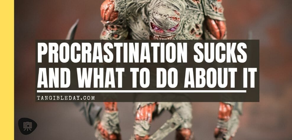 Procrastination: The Bogeyman of Artists and Miniature Painters - skin and moans - miniature painting procrastination - painting block - help with motivation for painting miniatures - banner
