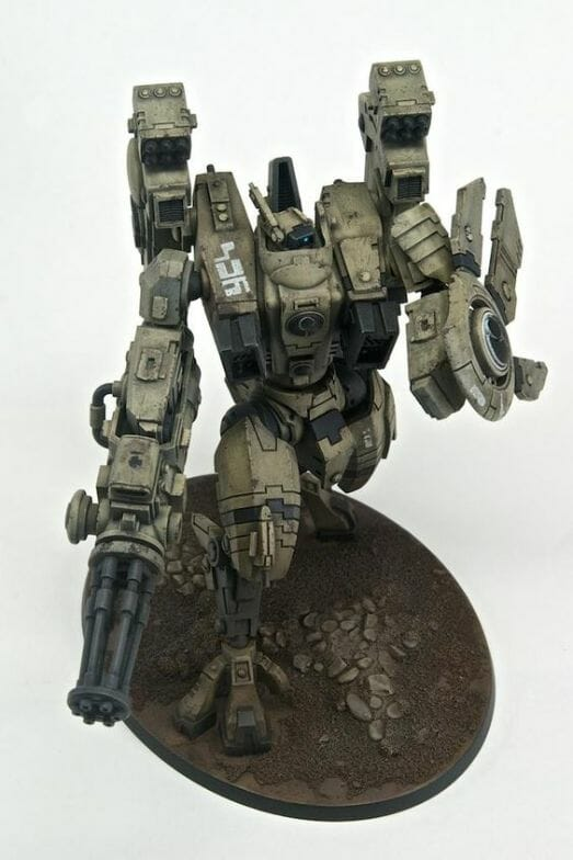 Tau sept color schemes, caste color schemes for Tau, T'au paint color scheme ideas – Grimdark Tau style, Blachitsu Tau painting, how to paint Tau miniatures, Games Workshop Tau paint schemes – How to paint grimdark Tau – painting Blanchitsu Tau - dark green gray concept