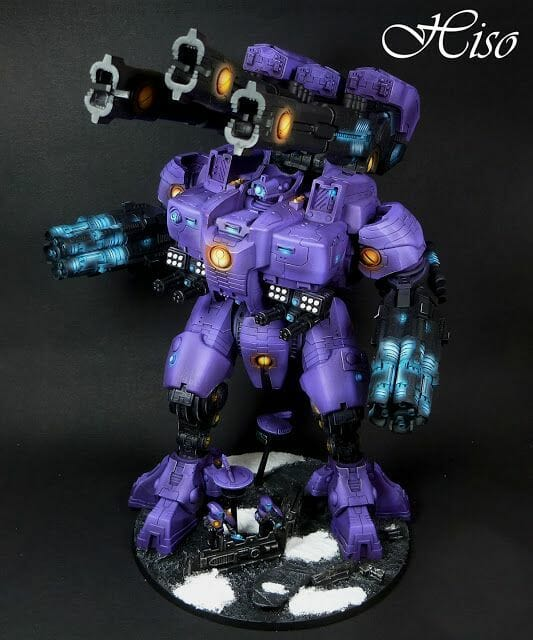 Tau sept color schemes, caste color schemes for Tau, T'au paint color scheme ideas – Grimdark Tau style, Blachitsu Tau painting, how to paint Tau miniatures, Games Workshop Tau paint schemes – How to paint grimdark Tau – painting Blanchitsu Tau - dark royal purple