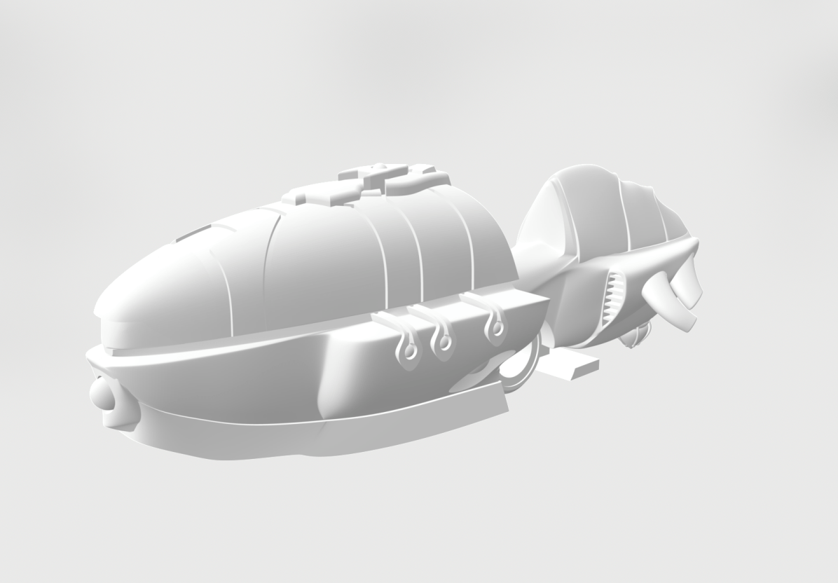 assembled and painted hover bike for vyros - 3D render
