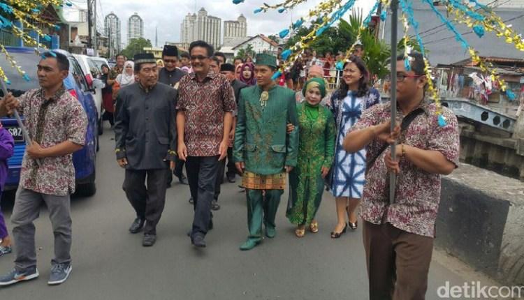 Akhir Pekan, Cawagub Djarot Kampanye Hadiri Acara Nikahan Warga Jakarta