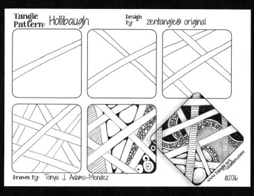 Hollibaugh Tangle Pattern Tutorial