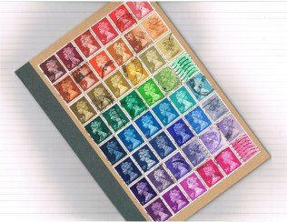 Machin rainbow notebook/journal, made to order