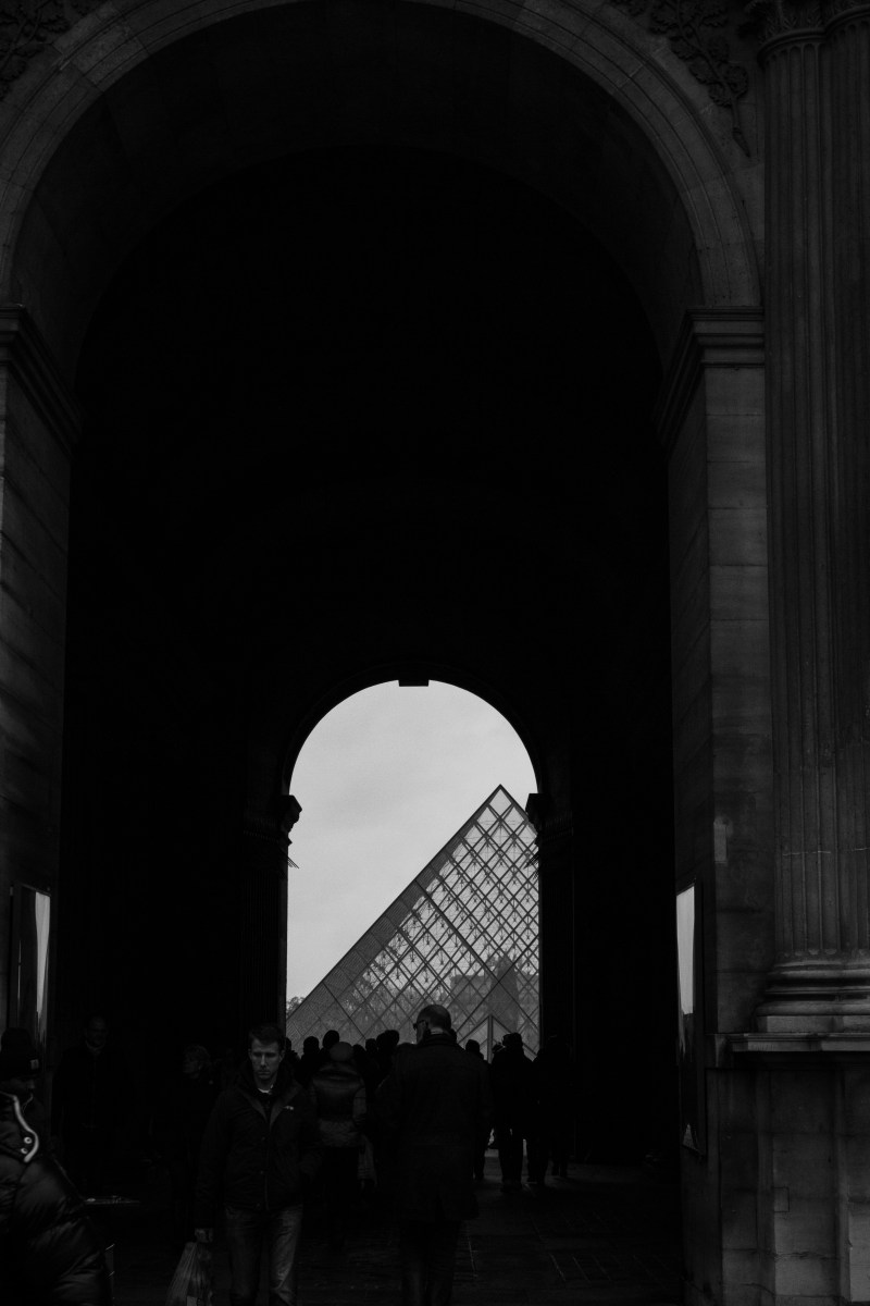 Paris in Black  White  tangledinmaps