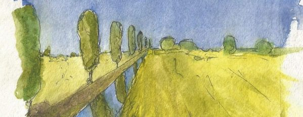 Watercolour Landscape of Somerset
