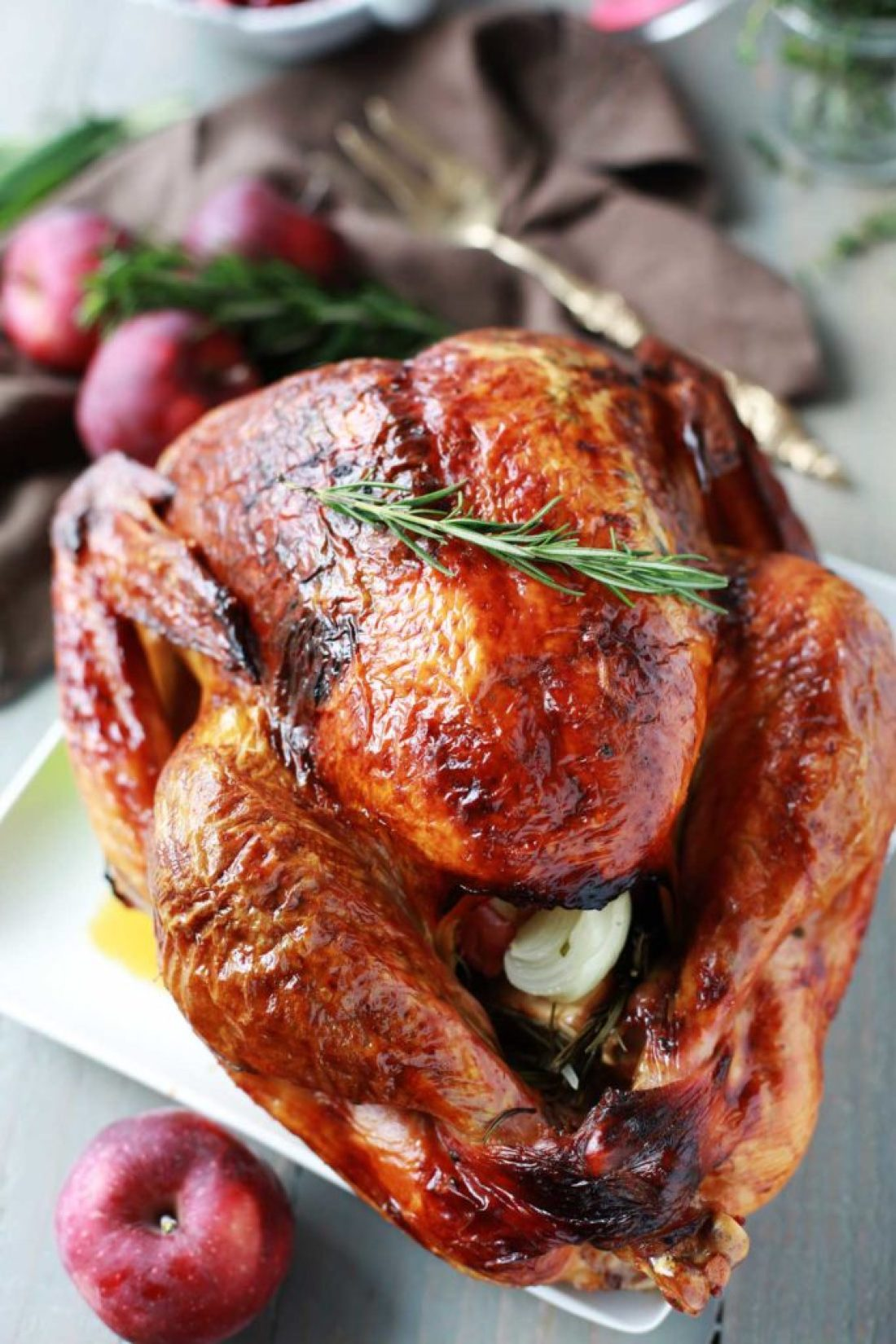 Turkey Recipe Aromatic Lemon Apple And Herb Turkey Tangled With Taste