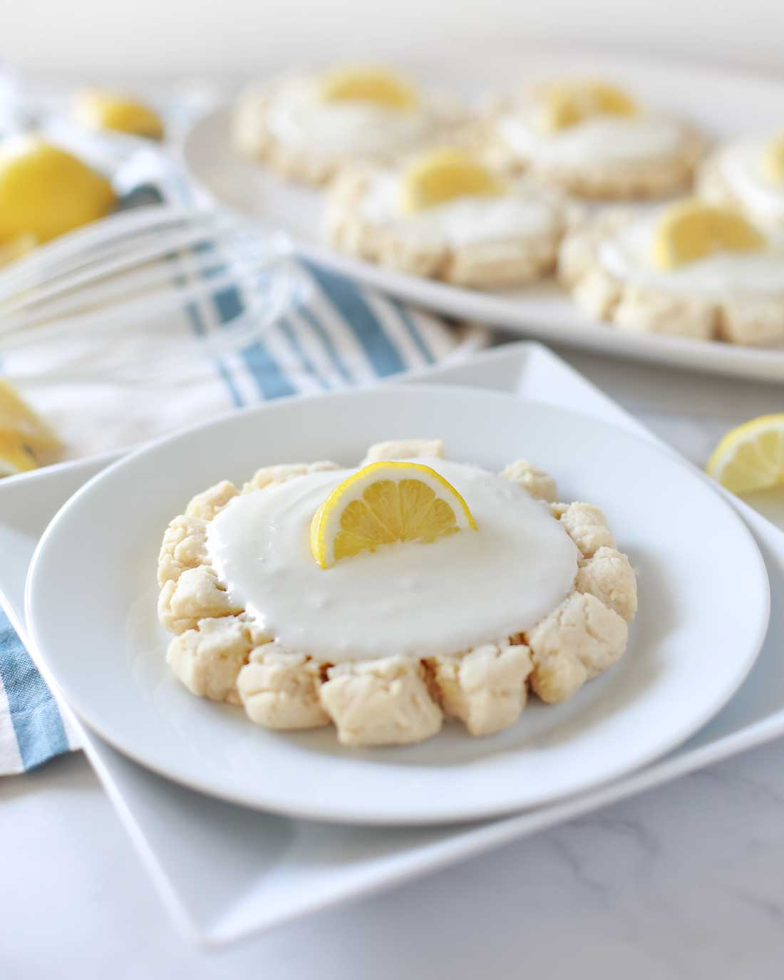 AMAZING Sour Cream Lemon Sugar Cookies by Flirting with Flavor.