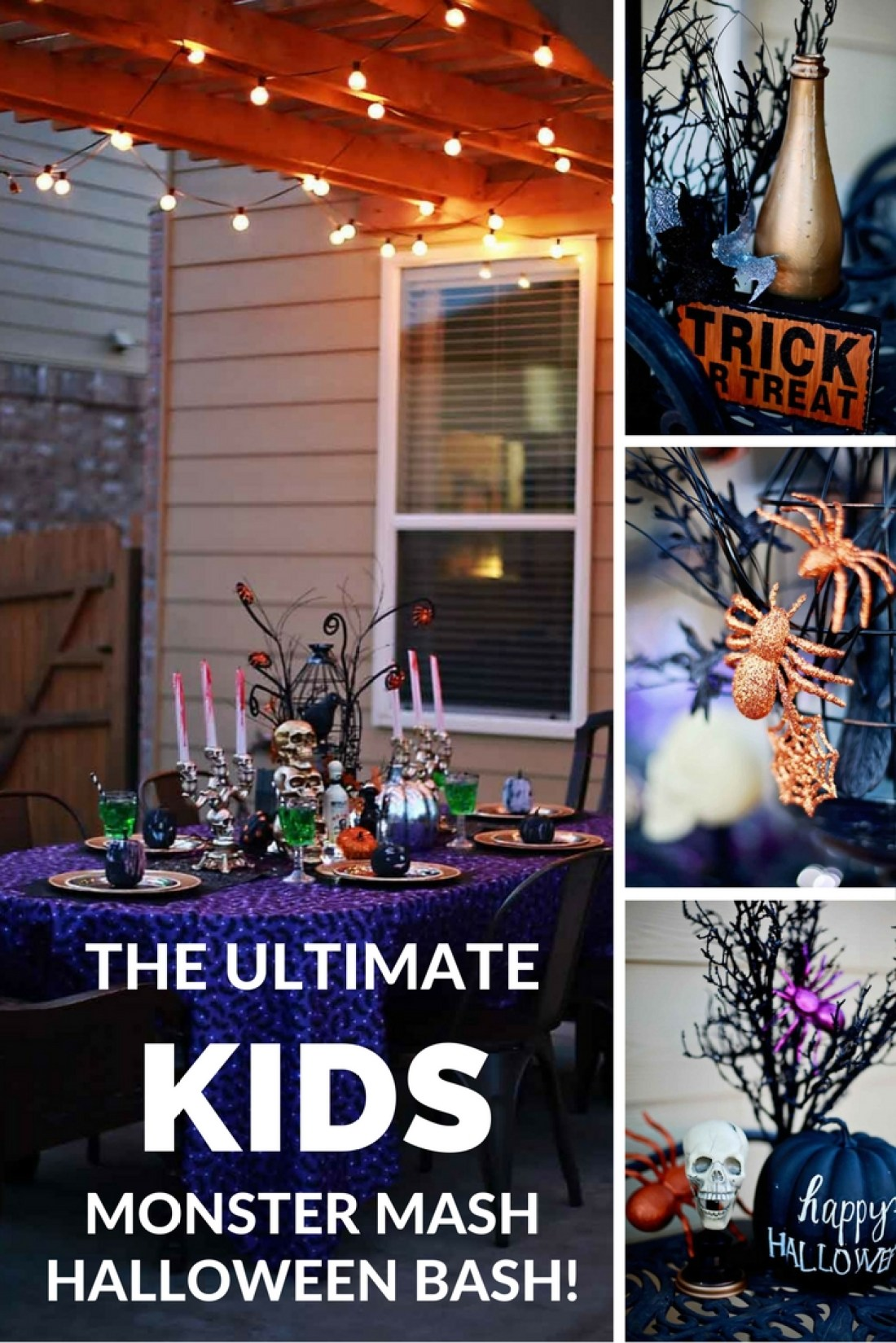 The funnest and Easiest Kids Halloween Party by Flirting with Flavor!