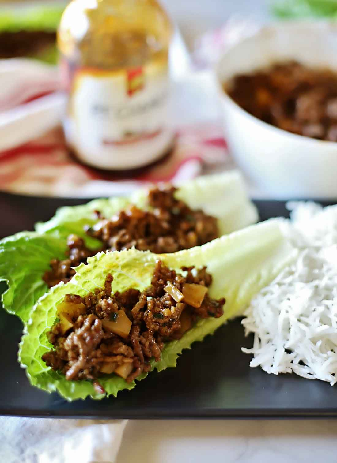 Mongolian Beef Lettuce Wraps!