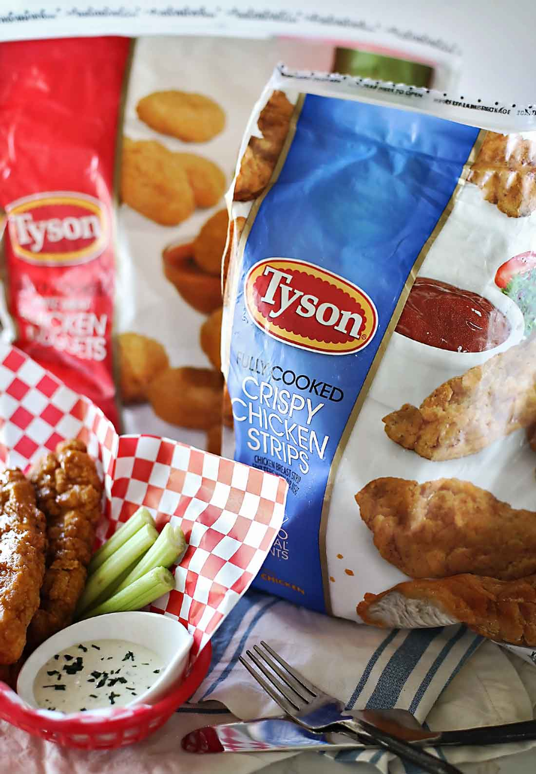 Sticky Fingers recipe with Frozen chicken strips by Flirting with Flavor