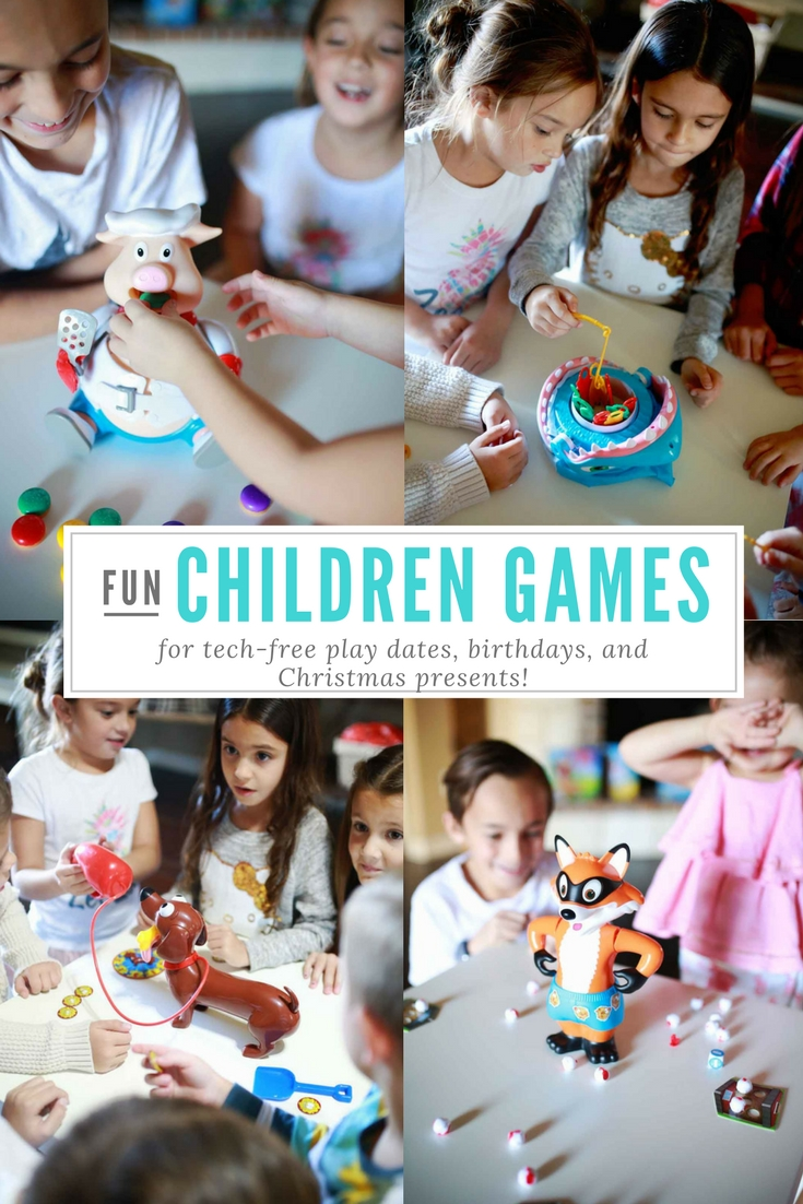 List of tried and true kids games that they love! Childrens games for holidays and birthday presents