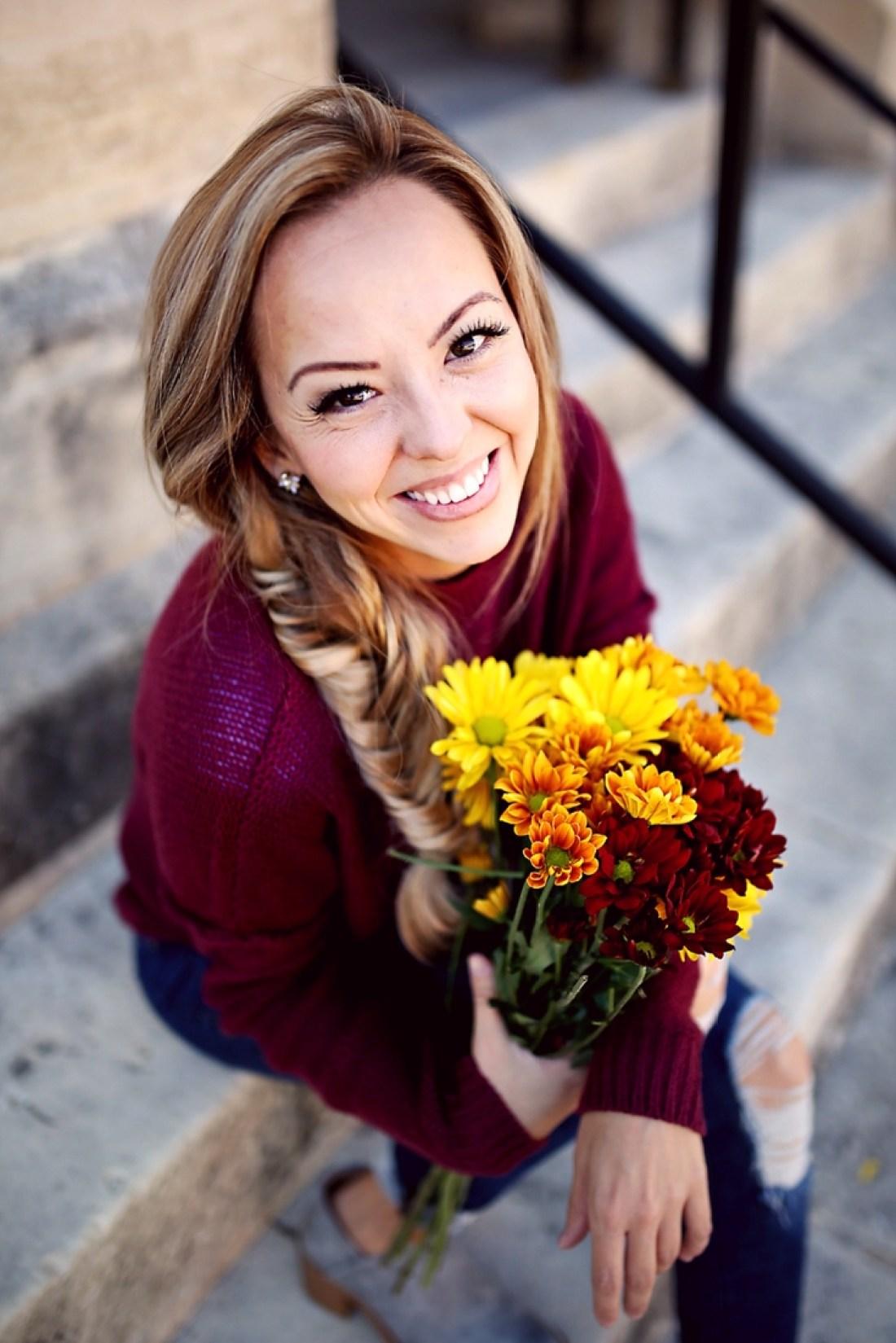 Fall flowers and a boho braid! Tangled with Taste...