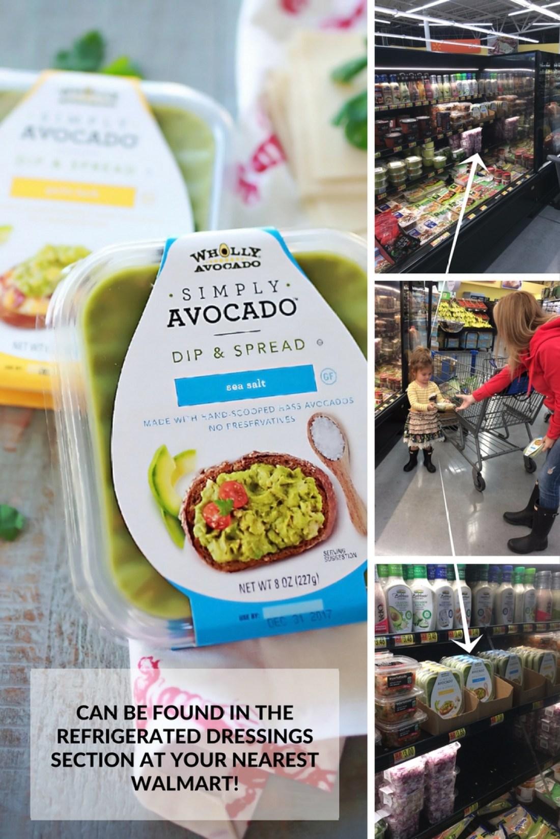Simply avocado dip can be found at Walmart